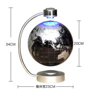 """8"""" Magnetic Levitation Floating Globe World Map with LED Lights for Holiday Gifts Home Decoration"""