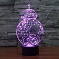 3D LED Night Light Star Wars Lamp Novelty Robot USB Touch Switch Table Lamp Creative Home Decor