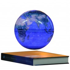 6 Inch Electronic Magnetic Levitation Floating Globe English World Map with LED for Gifts Home Decoration