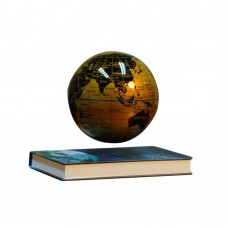 """6"""" Electronic Magnetic Levitation Floating Globe English World Map for Gifts Home Decoration Gold"""