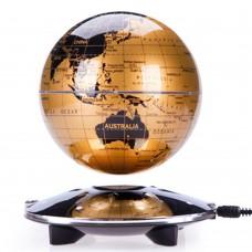 """6"""" Magnetic Levitation Floating Globe English World Map LED Anti Gravity  Gift Home Decoration Gold"""