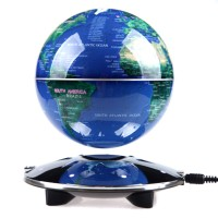 """6"""" Magnetic Levitation Floating Globe English World Map LED Anti Gravity  Gift Home Decoration Blue"""