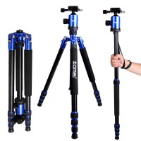 ZOMEI Z888 Portable DSLR Camera Tripod Aluminum Traveling Camcorder Monopod with Ball Head