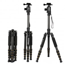ZOMEI Z699C Portable Travel Carbon Fiber Tripod Monopod with Ball head for DSLR Camera