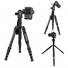 ZOMEI Z699C Portable DSLR Camera Tripod Aluminum Traveling Camcorder Monopod with Ball Head