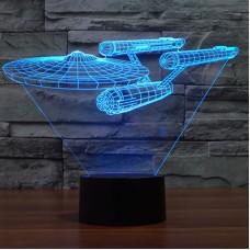 Star Trek USS Enterprise 3D LED Night Light 7 Color Touch Switch Table Desk Lamp