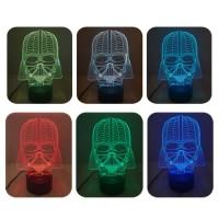 3D Bulbing Star War Darth Vader Night Light 7 Color Change LED Desk Table Lamp