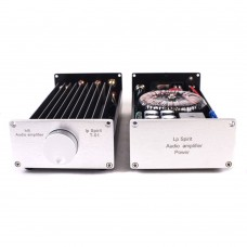 HIFI Audio Power Amplifier Class A 1969 Dual Channel with Power Supply Silver