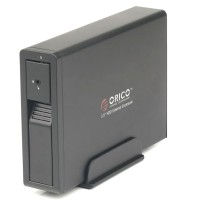 """ORICO 7618US3 External HDD Enclosure 3.5"""" SATA with 12V2.5A Power Adapter Black"""