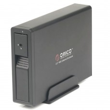 "ORICO 7618US3 External HDD Enclosure 3.5"" SATA with 12V2.5A Power Adapter Black"