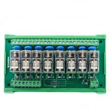 SANWO 8 Channel Omron Relay Module DC24V PLC Drive Output Board PNP 1A1B