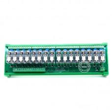 SANWO 16 Channel Omron Relay Module Controller DC24V PLC Drive Board NPN 1A1B