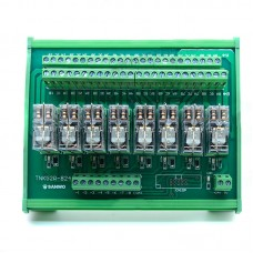 8 Channel Omron Relay Module Controller DC24V PLC Amplifier Drive Board PNP 2A2B