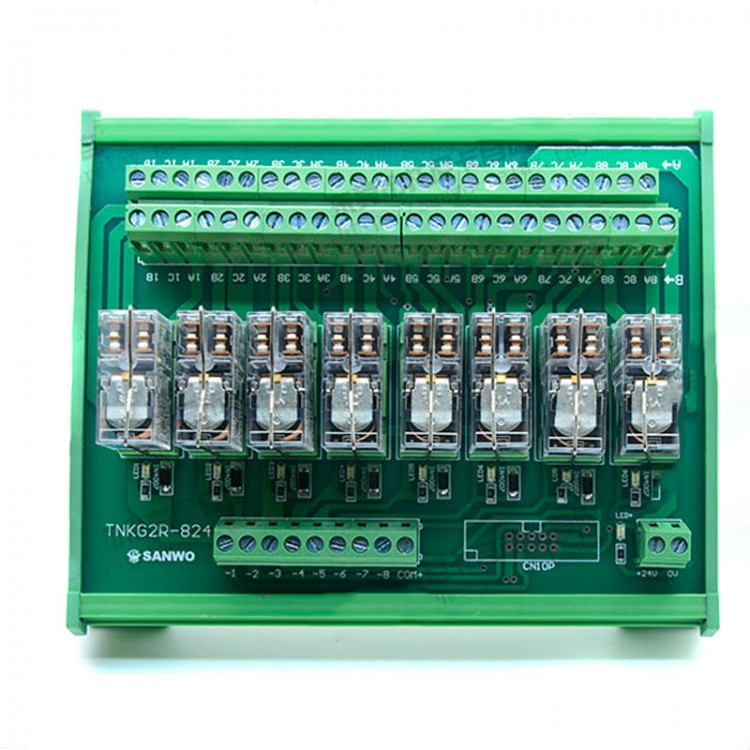 8 Channel Omron Relay Module Controller Dc24v Plc