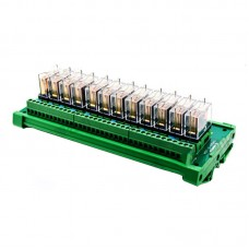 12 Channel Omron Relay Module Controller DC24V PLC Amplifier Drive Board NPN 1A1B