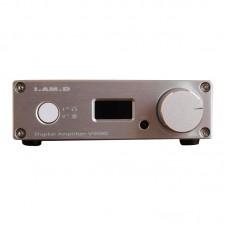I.AM.D V200 Digital Audio Amplifier Headphone Amp 150Wx2 CM6631A 24Bit 192KHz Input USB Optical Coaxial AUX OLED Silver