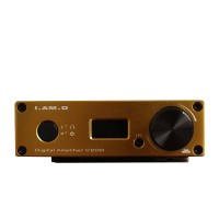 I.AM.D V200 Digital Audio Amplifier Bluetooth Headphone Amp 150Wx2 CM6631A 24Bit 192KHz USB Optical Coaxial AUX OLED Gold
