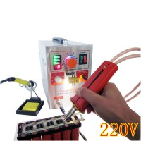 709AD 220V Pulse Spot Welder Battery Welding Soldering Machine 3in1 for 18650 with 70B Welding Pen