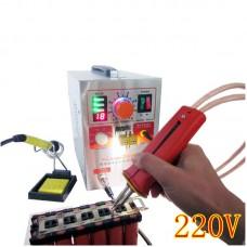 709AD 220V Pulse Spot Welder Battery Welding Soldering Machine 3in1 for 18650 with 70B Welding Pen