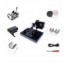 8 IN 1 Combo Heat Press Machine Heat Thermal Transfer Printer for Plate Mug Cap T Shirt