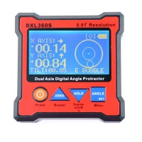 DXL360S Dual Axis Angle Protractor Digital Display Level Gauge with 5 Side Magnetic Base