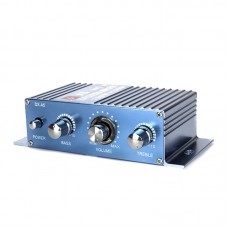 A5 HIFI Stereo Audio Power Amplifier DC12V 150W+150W 2.0 Dual Channel with 12V 3A Power Supply