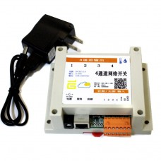 4 in 4 out Network Relay Controller Module Support TCP Modbus UDP Temperature Humidity Sensor for WEB PC Android