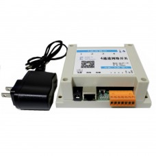 4 in 4 out Network Relay Controller WEB PC Control with Temperature Humidity Sensor