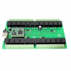 24 Channel Network Relay Module Ethernet RJ45 Interface Support WEB TCP UDP TCP Modbus