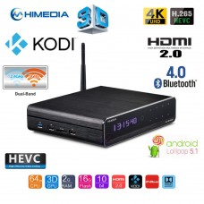 HiMedia Q10 Pro Internet TV Box BD 3D 4K UHD HDR Bluetooth Android 5.1 WIFI 16GB Media Player