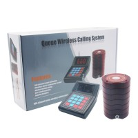 Restaurant Wireless Paging Queuing System 1 Transmitter 10 Coaster Pagers Guest Waiter Calling