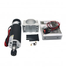 57mm Air Cooling DC Spindle Motor ER16 110V 600W+Speed Governor+Motor Mount for CNC Router Engraving Machine
