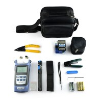 Fiber Optic FTTH Tool Kit with Power Meter FC-6S Fiber Cleaver Visual Fault Locator Wire Stripper