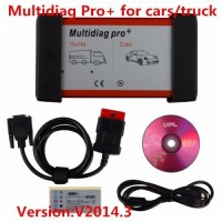V2015.3 New Design Multidiag Pro+ Diagnostic Tool for Cars Trucks and OBD2 without Bluetooth