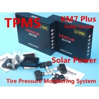 Tire Pressure Monitoring System TPMS with Solar Power Kenelem Secure KM7 Plus