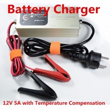 Smart Lead Acid Battery Charger Automatic 12V 5A with Temperature Compensation MXS 5.0