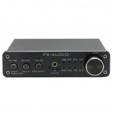 FX Audio D302PRO HIFI Amplifier Headphone AMP USB Coax Optic AUX Input 20Wx2 Support 24Bit 192KHz with Power Supply Black