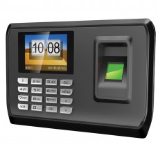 "USB Password Fingerprint Time Recorder Control System 1.8"" Attendance for Employee Office"