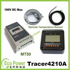 EPEVER 40A MPPT Solar Charge Controller12V 24V 100VDC input W/MT-50+Temperature Sensor
