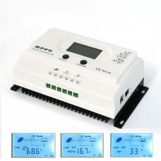 MPPT Solar Charge Controller 100V 15A DC 12V 24V LCD Battery Regulator