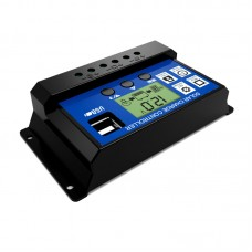 Solar Charge Controller LCD 30A Dual USB Interface for Solar Panel Battery Lamp LED Lighting
