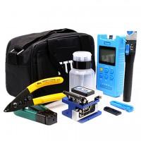 Fiber Optic FTTH Tool Kit with Power Meter FC-6S Fiber Cleaver Visual Fault Locator Miller Forceps