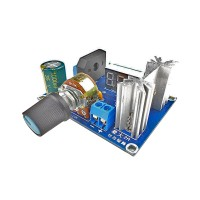 LM317 Adjustable Voltage Regulator Step Down Power Supply Module LED Meter AC DC Input