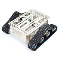 Smart Robot Tank Tracked Car Chassis Stainless Aluminum Alloy Vehicle for DIY