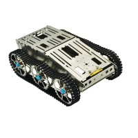 Smart Robot Tank Chassis Tracked Car Aluminum Alloy Vehicle for Arduino DIY