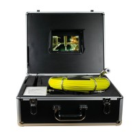 "GSY9000D Sewer Waterproof Video Camera DVR 7"" Monitor Drain Pipe Inspection with 20M Cable"