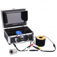 "7"" LCD Waterproof Fish Finder Fishing Camera 1000TVL HD Monitor 15M 701"