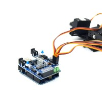 Arduino Compatible 4 Freedom Degree Manipulator Robot Linkage Control UNOR3 Servo Drive Plate + Mainboard