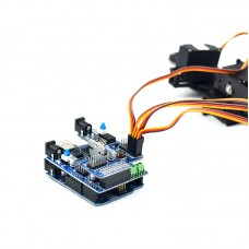 Arduino Compatible 4 Freedom Degree Manipulator Robot Linkage Control UNOR3 Servo Drive Plate + Mainboard