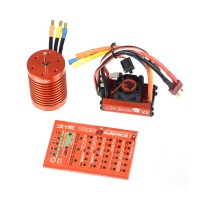 SkyRC Leopard 60A ESC 10T 3930KV Brushless Motor Program Card Combo for 1/10 RC Car Vehicle